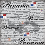 Scrapbook Customs - World Collection - Panama - 12 x 12 Paper - Scratchy