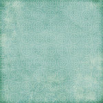 Scrapbook Customs - Travel Collection - 12 x 12 Paper - Travel - Blue Pattern
