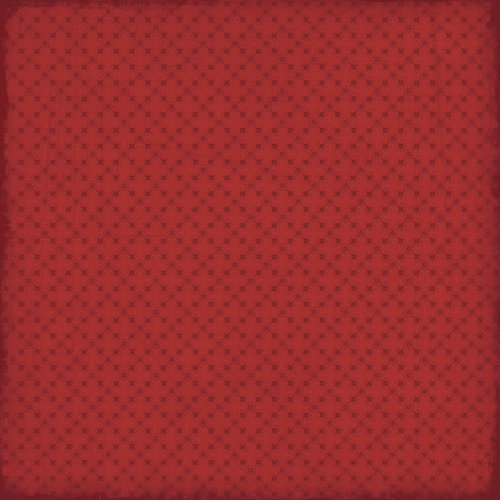 Scrapbook Customs - Travel Collection - 12 x 12 Paper - Travel - Red Pattern