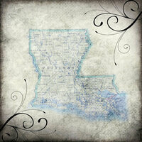 Scrapbook Customs - United States Collection - Louisiana - 12 x 12 Paper - Travel