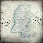 Scrapbook Customs - United States Collection - Mississippi - 12 x 12 Paper - Travel