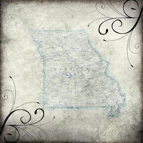 Scrapbook Customs - United States Collection - Missouri - 12 x 12 Paper - Travel