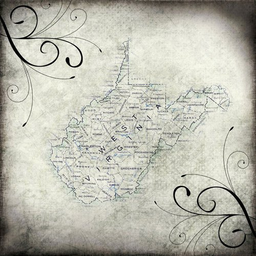 Scrapbook Customs - United States Collection - West Virginia - 12 x 12 Paper - Travel