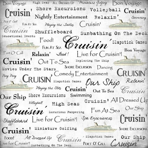 Scrapbook Customs - Sports Collection - 12 x 12 Paper - Cruise - Live For