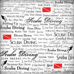 Scrapbook Customs - Sports Collection - 12 x 12 Paper - Scuba Diving - Live For