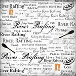 Scrapbook Customs - Sports Collection - 12 x 12 Paper - River Rafting - Live For