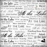 Scrapbook Customs - Sports Collection - 12 x 12 Paper - At the Lake - Live For