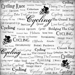 Scrapbook Customs - Sports Collection - 12 x 12 Paper - Cycling - Live For
