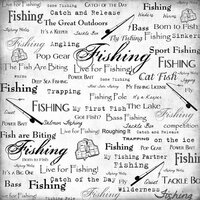 Scrapbook Customs - Sports Collection - 12 x 12 Paper - Fishing - Live For