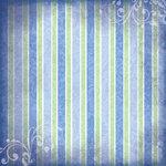 Scrapbook Customs - Religious Collection - 12 x 12 Paper - Baptism Stripe