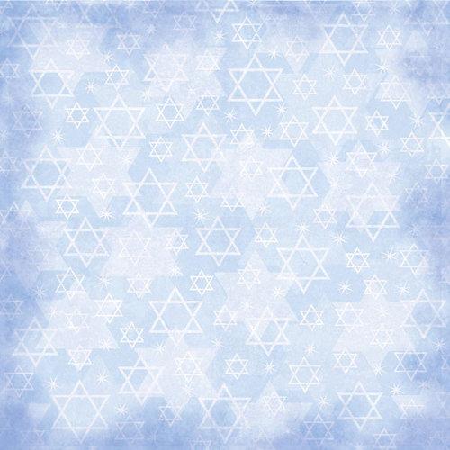 Scrapbook Customs - Religious Collection - 12 x 12 Paper - Bar Mitzvah Star
