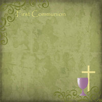 Scrapbook Customs - Religious Collection - 12 x 12 Paper - First Communion