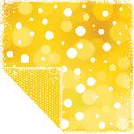 Scrapbook Customs - Travel Collection - 12 x 12 Double Sided Paper - Bon Voyage - Sunny Dots