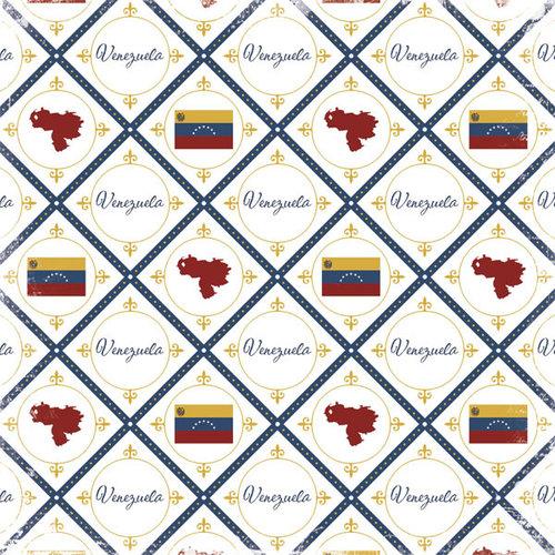 Scrapbook Customs - World Collection - Venezuela - 12 x 12 Paper - Discover