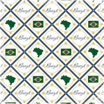 Scrapbook Customs - World Collection - Brazil - 12 x 12 Paper - Discover