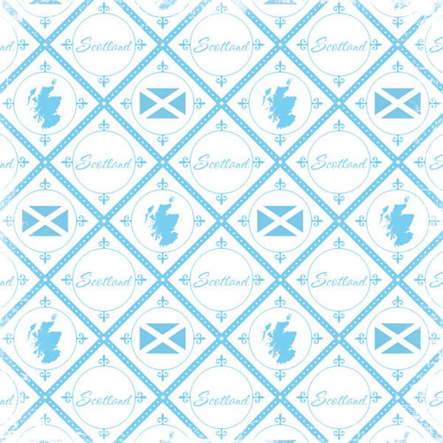 Scrapbook Customs - World Collection - Scotland - 12 x 12 Paper - Discover