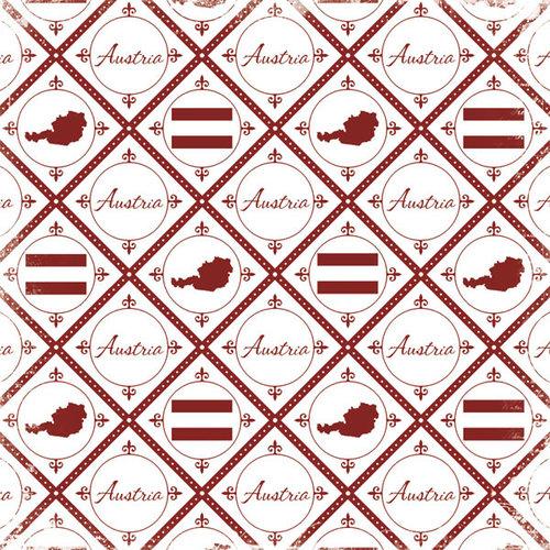 Scrapbook Customs - World Collection - Austria - 12 x 12 Paper - Discover