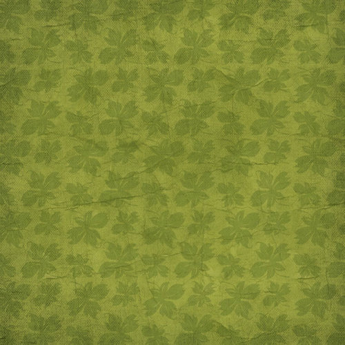 Scrapbook Customs - Travel Collection - 12 x 12 Paper - Vineyard - Grape Leaves - Green
