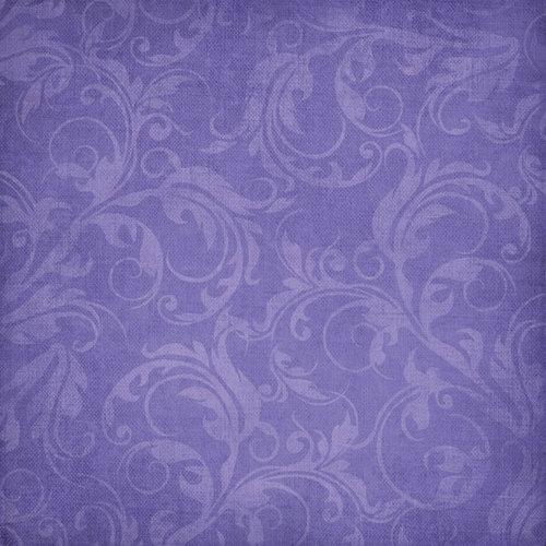 Scrapbook Customs - Travel Collection - 12 x 12 Paper - Vineyard - Lavender Vines