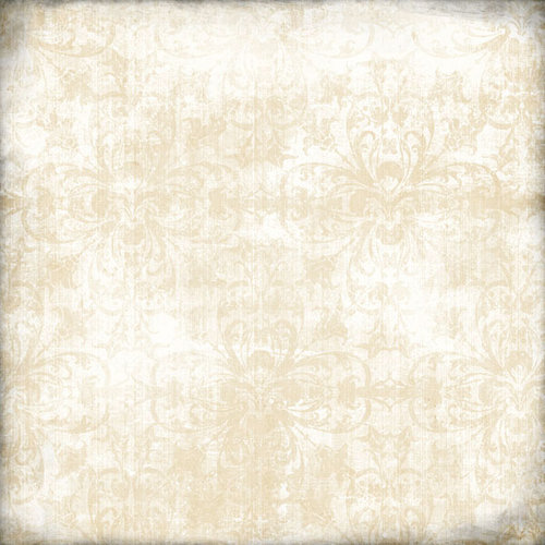 Scrapbook Customs - Travel Collection - 12 x 12 Paper - State Chic - Cream