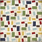 Scrapbook Customs - United States Collection - South Dakota - 12 x 12 Paper - State Shape