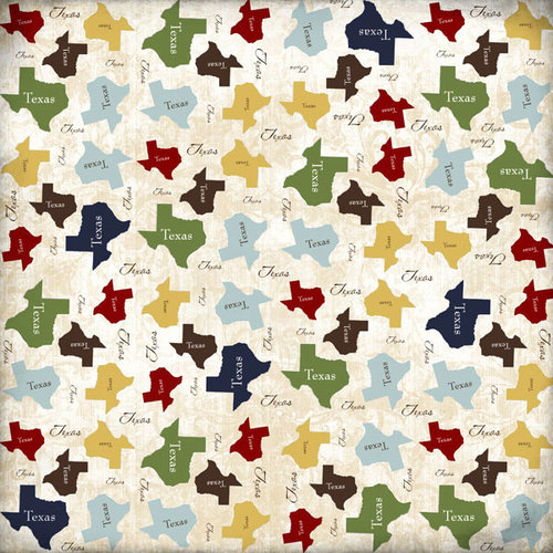 Scrapbook Customs - United States Collection - Texas - 12 x 12 Paper - State Shape