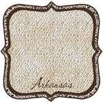 Scrapbook Customs - United States Collection - Arkansas - 12 x 12 Die Cut Paper - State Shape