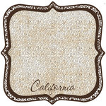 Scrapbook Customs - United States Collection - California - 12 x 12 Die Cut Paper - State Shape