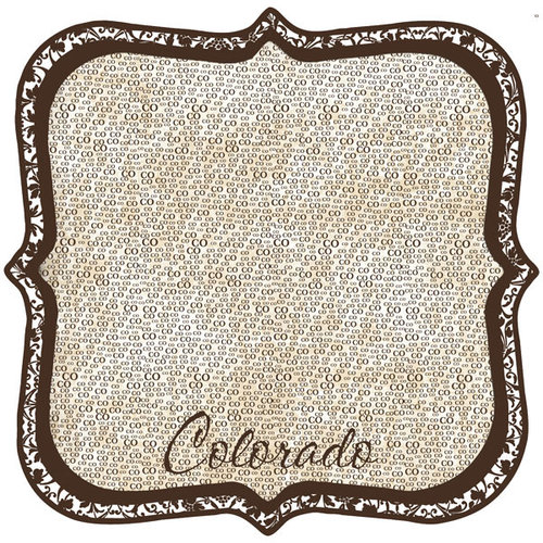 Scrapbook Customs - United States Collection - Colorado - 12 x 12 Die Cut Paper - State Shape