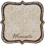 Scrapbook Customs - United States Collection - Minnesota - 12 x 12 Die Cut Paper - State Shape