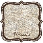 Scrapbook Customs - United States Collection - Nebraska - 12 x 12 Die Cut Paper - State Shape