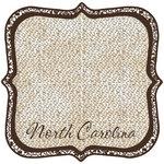 Scrapbook Customs - United States Collection - North Carolina - 12 x 12 Die Cut Paper - State Shape