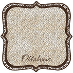 Scrapbook Customs - United States Collection - Oklahoma - 12 x 12 Die Cut Paper - State Shape