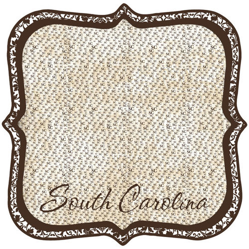 Scrapbook Customs - United States Collection - South Carolina - 12 x 12 Die Cut Paper - State Shape