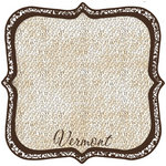 Scrapbook Customs - United States Collection - Vermont - 12 x 12 Die Cut Paper - State Shape