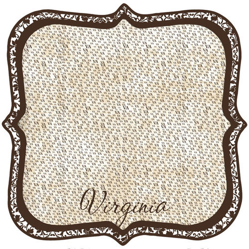 Scrapbook Customs - United States Collection - Virginia - 12 x 12 Die Cut Paper - State Shape