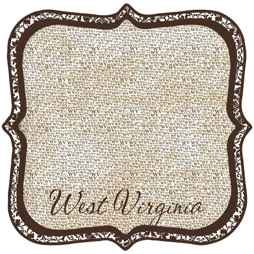 Scrapbook Customs - United States Collection - West Virginia - 12 x 12 Die Cut Paper - State Shape