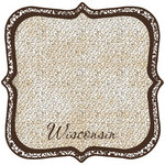 Scrapbook Customs - United States Collection - Wisconsin - 12 x 12 Die Cut Paper - State Shape