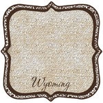 Scrapbook Customs - United States Collection - Wyoming - 12 x 12 Die Cut Paper - State Shape