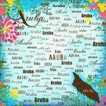 Scrapbook Customs - World Collection - Aruba - 12 x 12 Paper - Paradise