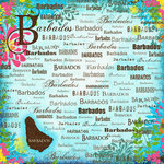Scrapbook Customs - World Collection - Barbados - 12 x 12 Paper - Paradise