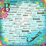 Scrapbook Customs - World Collection - Bermuda - 12 x 12 Paper - Paradise
