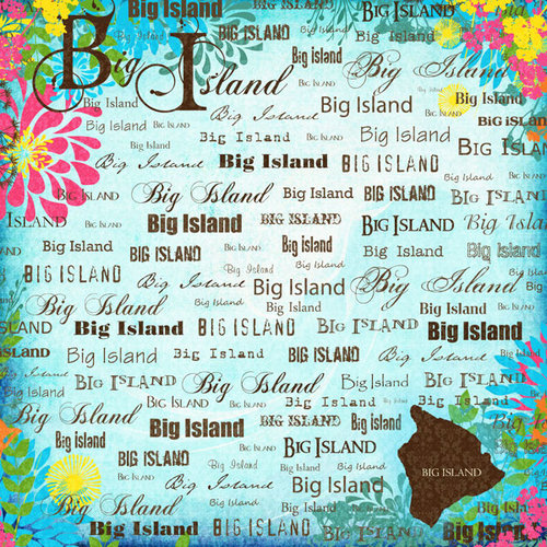 Scrapbook Customs - World Collection - USA - 12 x 12 Paper - The Big Island - Paradise