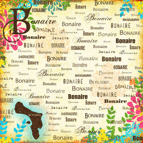 Scrapbook Customs - World Collection - Bonaire - 12 x 12 Paper - Paradise