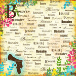 Scrapbook Customs - World Collection - Bonaire - 12 x 12 Paper - Paradise