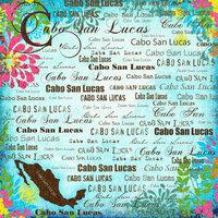 Scrapbook Customs - World Collection - Mexico - 12 x 12 Paper - Cabo San Lucus - Paradise