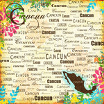 Scrapbook Customs - World Collection - Mexico - 12 x 12 Paper - Cancun - Paradise