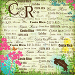 Scrapbook Customs - World Collection - Costa Rica - 12 x 12 Paper - Paradise