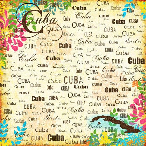 Scrapbook Customs - World Collection - Cuba - 12 x 12 Paper - Paradise