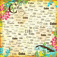 Scrapbook Customs - World Collection - Cuba - 12 x 12 Paper - Paradise